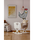 Gallina bebe-Decoravinilos