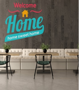 welcome home - Decoravinilos -