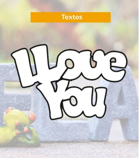 Love you - Textos de Corcho - Decoravinilos