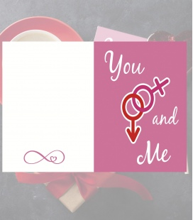 Tarjeta You and me - Decoravinilos