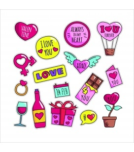 Stickers Valantine